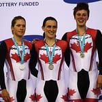 Dr. Vie Canadian athletes Jasmine Glaesser Tara Whitten Gillian Carelton silver medal London World Cup track team pursuit February 2012