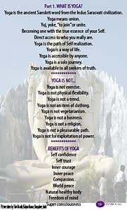 World Yoga Day is about Self Realization