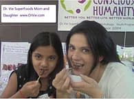 Dr. Vie SuperFoods with mother and daughter