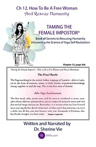 Yoga Self Realization from Taming The Female Impostor Ch 12 page 266