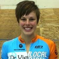 Gillian Carleton Dr. Vie cyclist wins track cycling