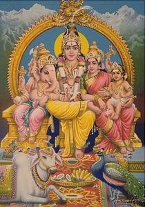 Dr Vie Lord Shiva Goddess Parvati Lord Ganesh Lord Muraga
