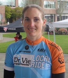 Jessica Hannah Dr. Vie cyclist 2012 Canadian womens team