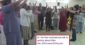 Dr. Vie motivates seniors for free