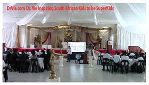 Dr. Vie Inspires Youth From 5 Schools in Africa to be Superkids and make a difference in their country.