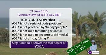 World yoga day by Dr. Vie Lesson 1