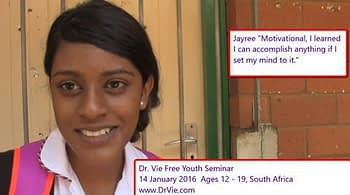 Dr. Vie Free Inspirational Youth Workshops Africa January 2016