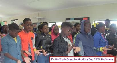 Youth inspiration for 2016 during Dr. Vie free Youth Camps