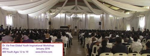 Dr. Vie Free Global Youth Inspirational Workshops Africa 2016
